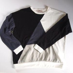 NWT Boxy Colorblock Pullover SZ M